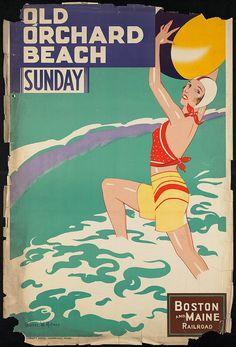 c.1930s Old Orchard Beach Boston Mass USA by InterestingPhotos, $6.95
