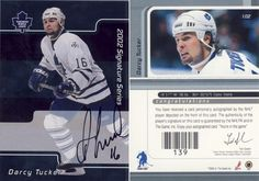 2001-02 Be A Player Signature Series Autographed - Darcy Tucker
