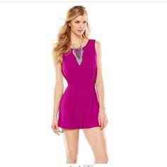 ‼️price reduced‼️Magenta romper NWOT Magenta Jennifer Lopez romper NWOT size 14 NO TRADES Jennifer Lopez Dresses