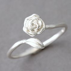 Sterling Silver Rose Ring Wrap FROM KELLINSILVER.COM