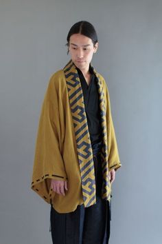 Our new Haori style men's cardigan is made with a natural mesh linen featuring a silhouette inspired by tradition. Its design details are reminiscent of traditional imperial court wear, especially the adjustable drawstring sleeves. This is an amazing piece that is a culmination of things past and present. #haori #sousou #hakama #kimono #dapper #mensfashion #design #textile #linen #japan #kyoto #sanfrancisco #japantown #cherryblossomfestival