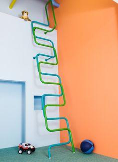 Colorful, Modern Interior Ladders for Kids by Alegre Industrial Studio for Katzden Architec LTD