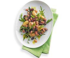 Bohnensalat mit Speck und Rucola - Rezept - Saisonküche