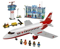 Lego Airport Building Sets, Passenger Plane, Education Space and Airport City Airport, Heartlake Airport and Cargo Terminal. Lego Airport. Jump aboard now..