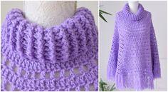 Basic Poncho With Crochet Collar