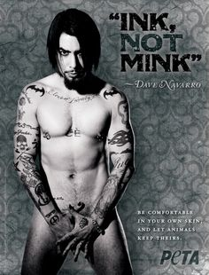 Wow - DN looking FINE in just his tats - and for PETA too! Lovely ;)