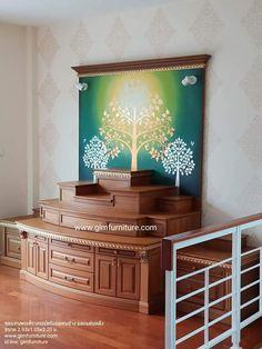 Temple Design For Home, Pooja Room Door Design, Decoration For Ganpati, Cottage Floor Plans, Puja Room, Altar Decorations, Room Doors, Apartment Interior, Meditation Rooms