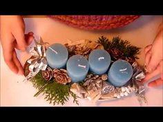 Adventi asztaldísz készítése- How to make Natural Advent decoration Advent, Bouquet, Christmas Decorations, Pearls, Nature, How To Make, Youtube, Design, Art