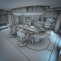 New science fiction room futuristic interior 38 Ideas Spaceship Interior, Futuristic Interior, Spaceship Design, Futuristic Design, Interior Exterior, Interior Design, Interior Ideas, Science Fiction, Sci Fi Environment