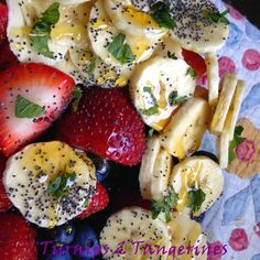 Turnips 2 Tangerines: Fruit Salad with Cool Mint Dressing