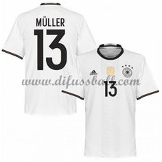 Nationaltrikot Deutschland 2016 Muller 13 Kurzarm Heim Fußballtrikots