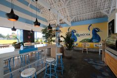 Warung Bakso Cafe Restaurant, Restaurant Design, Cafe Interior Design, Custom Furniture, Coffee Shop, Loft, Outdoor Decor, Modern, Shopping