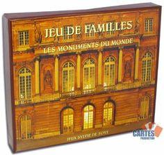 """JEU - Les Monuments du Monde - Ce jeu de 12 familles consiste à réunir 4 monuments du monde d'un même style architectural pour constituer une famille. """"Dans la famille Art égyptien, je voudrais Le Temple de Louxor!"""""""