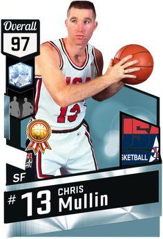 c734dbc015f '92 Chris Mullin (97) MyTEAM Diamond Card Olympic Basketball, Basketball  Cards,