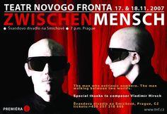 Zwischenmensch stageplay poster (music by Vladimír Hirsch)