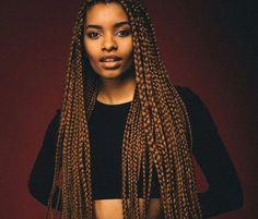 box-braid-colors-honey-blond-brown # beyonce Braids pictures 63 Box Braid Pictures That'll Help You Choose Your Next Style Brown Box Braids, Ombre Box Braids, Small Box Braids, Short Box Braids, Blonde Box Braids, Jumbo Box Braids, Box Braids Hairstyles, Braids Hairstyles Pictures, Try On Hairstyles