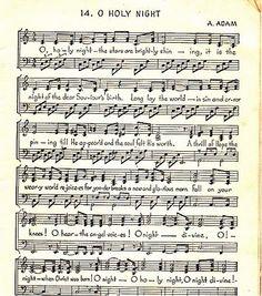 Oh Holy Night - my favorite Christmas carol. :)