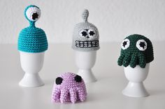 Alien and Robot Egg Warmers
