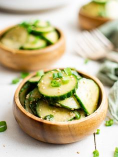 Cucumber Salad | More Than Meat And Potatoes Vegan Gluten Free, Vegan Vegetarian, Soy Ginger Dressing, Vinegar Cucumbers, Asian Cucumber Salad, Salad Places, English Cucumber, Toasted Sesame Seeds, Garlic Paste