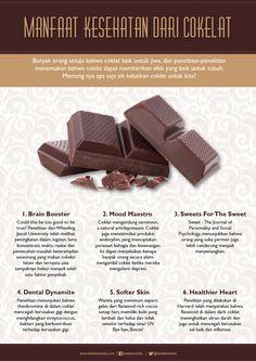 Manfaat kesehatan dari cokelat. | Beauty Infographic