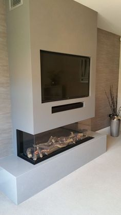 Dream Home Ideas - Dream Home Ideas Faber Gas Fire – Buckshaw Village, Chorley – Firecraft Fireplaces & Stoves Fireplace Feature Wall, Feature Wall Living Room, Fireplace Tv Wall, Modern Fireplace, Fireplace Design, New Living Room, Tv On Wall Ideas Living Room, Wall Fireplaces, Tv Feature Wall