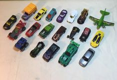 Hot Wheels Mixed Lot of 20 Cars Trucks Race cars Plane Die Cast And Plastic (A5) #HotWheels