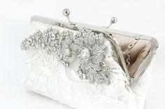 Lace Bridal Clutch Bag