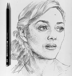 A #sketch of #MarionCotillard in the #sketchbook #drawing #artfido #artofdrawingg #artcollective #worldofartists #worldofpencils… Face Sketch, Pen Sketch, Portrait Sketches, Colored Pencils, Bond, Drawings, Artist, Painting, Sketching