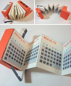 Accordion-folded Calendar | graphic design. visual communication. calendar. calendar design. die cut.