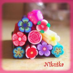 FIMO clay nail decorations for girls :-)