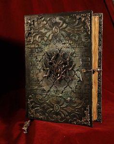 Blank Journal, Journal Covers, Journal Diary, Altered Books, Altered Art, Tolkien, Buch Design, Artist Journal, Decoupage Box