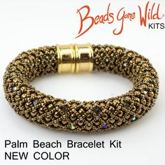 Enjoy this new color of the Bronze Palm Beach Bracelet kit!