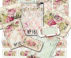 SHABBY TICKETS Collage Digital Images printable por iralamijashop, $4.50