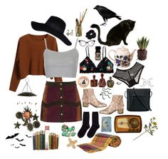 practical magic by twinpeaksgrrl on Polyvore featuring Chicnova Fashion, Topshop, River Island, Monki, Ganni, Hansel from Basel, O.S.P Osprey, Diego Percossi Papi, Lulu Frost and Wildfox