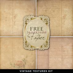 "Beautiful vintage looking papers - free to download from ""Far Far Hill"" (thank you)"