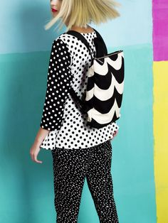 Kaski trousers, Kampi T-shirt, Lumme backpack / Marimekko S/S 14