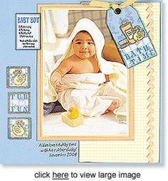 baby boy scrapbook page ideas | about the page technique making mini album pages designer shauna ...