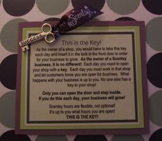 Scentsy -- Key to your business