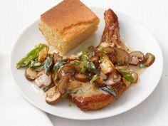 Pork Chops With Mushroom Gravy recipe from Food Network Kitchen via Food Network