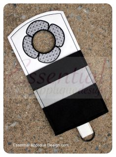 Essential Applique Design - ITH Classy Door Hanger, $6.99 (http://www.essentialappliquedesign.com/ith-classy-door-hanger/) #ITH #essentialapplique