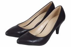 WOMENS LADIES LOW MID HEEL SMART FORMAL COURT SHOES SIZES 3 to 8 UK