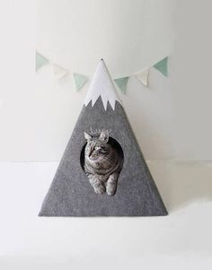 Cat bed, perfect for travelling https://www.etsy.com/listing/515088736/cat-bed-with-a-matching-pad-cat-teepee