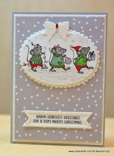 Stampin' Up! Merry Mice stamp set from 2016 Holiday Catalog Christmas Cards 2017, Stamped Christmas Cards, Homemade Christmas Cards, Merry Christmas To All, Stampin Up Christmas, Noel Christmas, Xmas Cards, Handmade Christmas, Homemade Cards