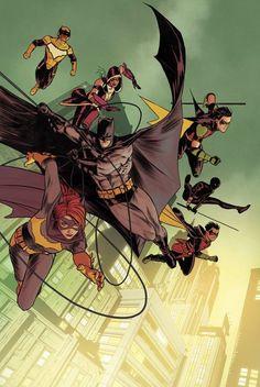 The Bat Family - Mikel Janin Colors: Jordie Bellaire comic book genres Alex Ross, Nightwing, Batgirl, Comic Books Art, Comic Art, Book Art, Marvel, Batman Kunst, Tumblr Cartoon