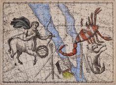 Joseph Cornell, Untitled [Sagittarius, Scorpio, and Lupus Constellations]