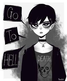 this is emo punk oscar..? #oscar #emopunk #creepy #dark #goth #ocs