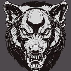 "1,386 To se mi líbí, 25 komentářů – Jared Mirabile (@sweyda) na Instagramu: ""Apex predator. Wolfpack leader. #clientwork #wolf #illustration #adobeillustrator #vector #sweyda"""
