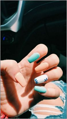 38 unique matte nail designs ideas for this fall - # . - 38 unique matte nail designs ideas for this fall – # … # designs # - Fall Nail Art Designs, Cute Acrylic Nail Designs, Simple Acrylic Nails, Best Acrylic Nails, Fall Designs, Cute Simple Nail Designs, Matte Nail Designs, Light Blue Nail Designs, Matte Gel Nails
