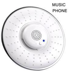 Bluetooth Wireless Musical Jet Rain Showerhead Waterproof Speaker Hand-free Phone Calls HG99 #Affiliate