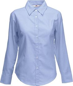 Bekleidung, Spezielle Anlässe, Fun-Bekleidung, Tops & Shirts, T-Shirts Lady Fit, Blue Fruits, Oxford White, Black Oxfords, Fruit Of The Loom, Black And Navy, Blouse, Colorful Shirts, Long Sleeve Shirts